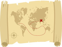 Antique treasure map Royalty Free Stock Photos