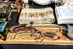 Antique treasures of Portugal market royalty free stock images