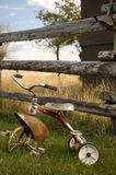 Antique Tricycle 2. Antique Tricycle on a farm Royalty Free Stock Photo