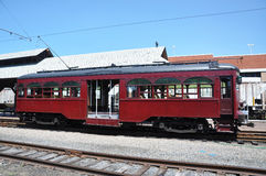 Antique Trolley. Located in the Electric City Trolley Museum, Scranton, Pennsylvania Stock Photo
