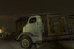 Antique Truck in front of Abandoned Barn Stock Photography