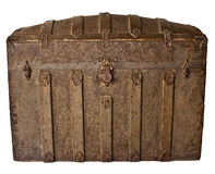 Antique Trunk with grape leaf pattern Royalty Free Stock Photography