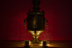 Antique Tula samovar: russian national kettle Royalty Free Stock Image