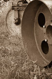 Antique Turf Lawn Roller Rusty Machine Royalty Free Stock Photography
