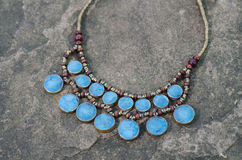 Antique Turquoise necklace Stock Photography