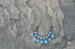 Antique Turquoise necklace Stock Image