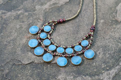 Antique Turquoise necklace Royalty Free Stock Photography