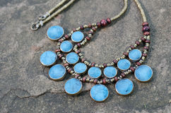 Antique Turquoise necklace Stock Images