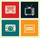 Antique tv Royalty Free Stock Image