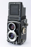 Antique Twin Lens Reflex Camera Royalty Free Stock Image
