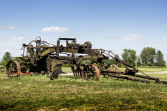 Antique Two Man Tractor and Horse Drawn Road Grader Royalty Free Stock Photo