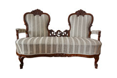 Antique two-seater chair Royalty Free Stock Photo