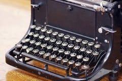 Antique type machine. Old machine for writing. Antique typewrite Royalty Free Stock Photo