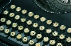Antique typewriter. Keys of a worn vintage typewriter royalty free stock images