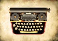 Antique typewriter. Over vintage background Royalty Free Stock Image