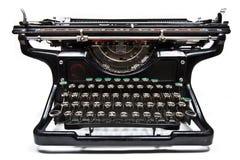 Antique typewriter. Antique manual Underwood typewriter on white stock image