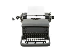 Antique Typewriter. An obsolete typewriter from an old office Royalty Free Stock Images