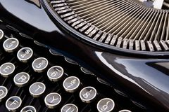 Antique Typewriter. Close up of antique typewriter Royalty Free Stock Images