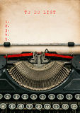 Antique typewriter aged paper. Business concept To Do List Royalty Free Stock Photo