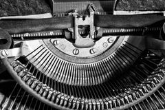 Antique Typewriter - An Antique Typewriter Showing Traditional T Stock Photography