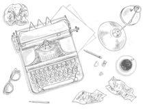 Antique typewriter background Royalty Free Stock Image