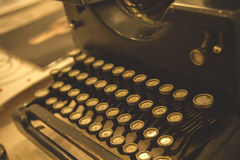 Antique typewriter. Close up, stock photo Stock Photos