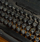 Antique typewriter detail Stock Photography