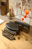 Antique Typewriter In Interior Stock Image