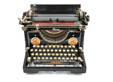 Antique Typewriter, Isolated Object, Isolated Antique Typewriter stock photos