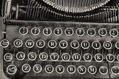 Antique Typewriter IV. Antique Typewriter Showing Traditional QWERTY Keys IV stock photography
