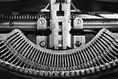 Antique Typewriter IX. An Antique Typewriter Showing Traditional QWERTY Keys IX stock photos