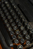 Antique typewriter keyboard Stock Photography
