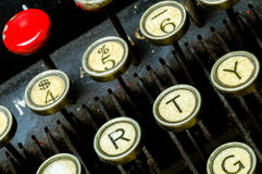 Antique Typewriter Keyboard Royalty Free Stock Photography