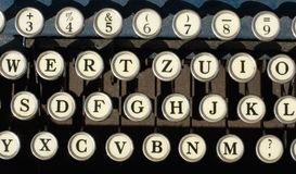 Antique typewriter keys Stock Photos