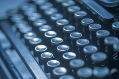 Antique typewriter keys Royalty Free Stock Photo
