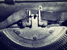 Antique typewriter keys Royalty Free Stock Images