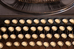Antique Typewriter with No Letters Stock Photos