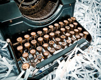 Antique typewriter,part. Royalty Free Stock Photography