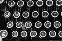 Antique Typewriter QWERTY IX. An Antique Typewriter Showing Traditional QWERTY Keys IX Royalty Free Stock Image