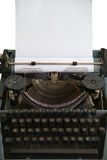 Antique typewriter with ribbon and carriage Stock Images