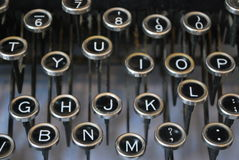 Antique Typewriter. Showing letters, keys Stock Photos