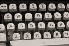Antique Typewriter. An Antique Typewriter Showing Traditional QWERTY Keys VI stock images
