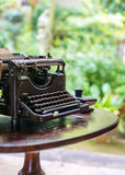 Antique typewriter. Royalty Free Stock Photography