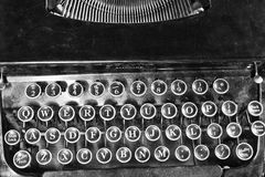 Antique Typewriter V. An Antique Typewriter Showing Traditional QWERTY Keys V royalty free stock image