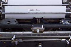 Antique typewriter vintage filter Royalty Free Stock Photos