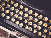 Antique Typewriter Vintage object background Stock Image
