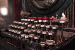 Antique Typewriter. Vintage Typewriter Machine royalty free stock images