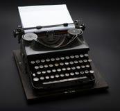 Antique Typewriter. Vintage Typewriter Machine on black Royalty Free Stock Image