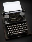 Antique Typewriter. Vintage Typewriter Machine on black Royalty Free Stock Images