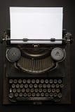 Antique Typewriter. Vintage Typewriter Machine on black Royalty Free Stock Photos